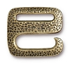 Clasp Distressed E Hook BRASS OXIDE