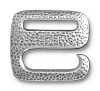 Clasp Distressed E Hook PEWTER