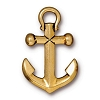 Anchor Drop Pendant LARGE ANT GOLD