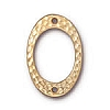 drilled hammer oval link BRIGHT GOLD
