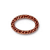 hammer oval ring link ANTIQUE COPPER