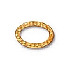 hammer oval ring link BRIGHT GOLD