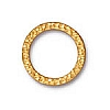 large hammer ring link BRIGHT GOLD