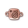 spiral glue - in - link ANTIQUE COPPER - per 10 pcs