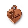 love mom charm ANTIQUE COPPER