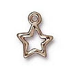 open star charm RHODIUM