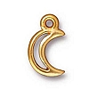 crescent moon charm ANTIQUE GOLD