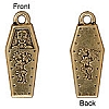 coffin charm ANTIQUE GOLD