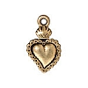 sacred heart milagro charm ANTIQUE GOLD