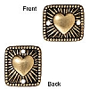 radiant heart link ANTIQUE GOLD  - per 10 pcs
