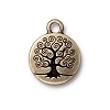 tree of life charm BRASS OXIDE