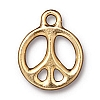 peace sign charm ANTIQUE GOLD