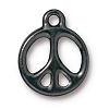 peace sign charm BLACK