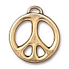 peace sign LG charm ANTIQUE GOLD