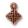 celtic weave charm ANTIQUE COPPER
