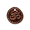 aum disc charm ANTIQUE COPPER