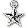 nautical star charm ANTIQUE SILVER