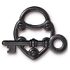 lock and key toggle clasp BLACK