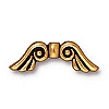 angel wings bead ANTIQUE GOLD