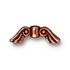 small angel wings bead ANTIQUE COPPER