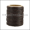 American Waxed Cord DARK BROWN - 0.030