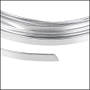 Flat aluminum wire 5mm SILVER- per 2 meters