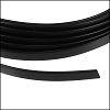 Flat aluminum wire 5mm BLACK - per 2 meters