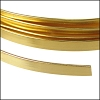 Flat aluminum wire 5mm GOLD - per 2 meters