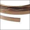 Flat aluminum wire 5mm BROWN - per 2 meters