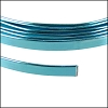 Flat aluminum wire 5mm TURQUOISE - 2m COIL