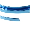 Flat aluminum wire 5mm BLUE - per 2 meters