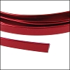 Flat aluminum wire 5mm RED - per 2 meters