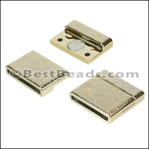 20mm flat ACRYLIC magnet GOLD - per 10 clasps