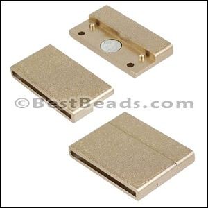 30mm flat ACRYLIC magnet MATTE GOLD - per 10 clasps