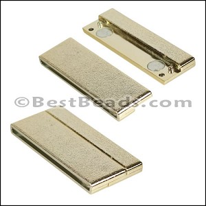 50mm flat ACRYLIC magnet GOLD - per 5 clasps