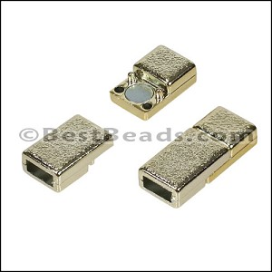 5mm flat ACRYLIC magnet GOLD - per 10 clasps