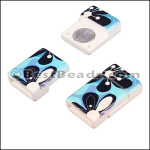 10mm flat ACRYLIC PATTERN magnet STYLE 11 - per 10 clasps