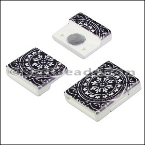 15mm flat ACRYLIC PATTERN magnet STYLE 3 - per 10 clasps