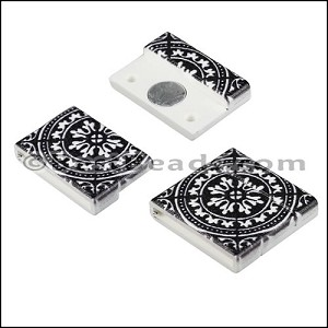 20mm flat ACRYLIC PATTERN magnet STYLE 3 - per 10 clasps