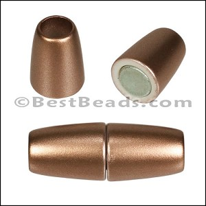 5mm round ACRYLIC magnet BRONZE - per 10 clasps