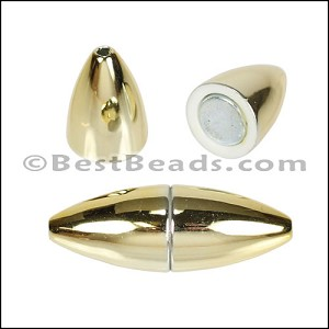 1.5mm round ACRYLIC magnet GOLD - per 10 clasps