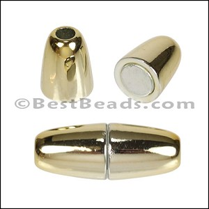 4mm round ACRYLIC magnet GOLD - per 10 clasps