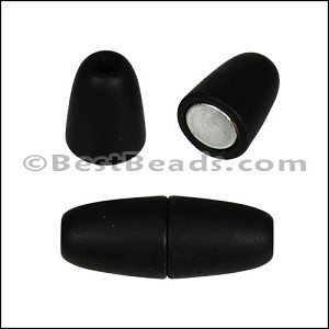 4mm round ACRYLIC magnet MATTE BLACK - per 10 clasps