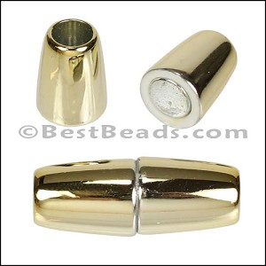 6mm round ACRYLIC magnet GOLD - per 10 clasps
