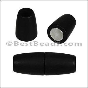 6mm round ACRYLIC magnet MATTE BLACK - per 10 clasps