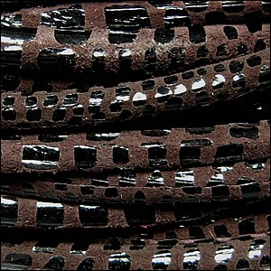5mm round CANCUN leather BROWN - per 10m SPOOL