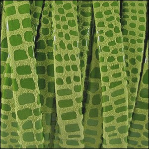 10mm flat CANCUN leather LIME GREEN - per 2 meters
