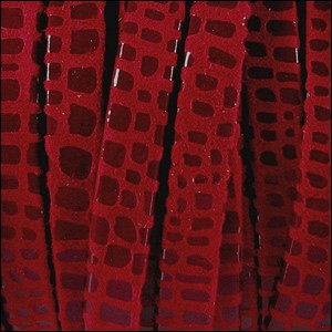 5mm flat CANCUN leather RED - per 20m SPOOL