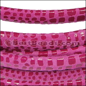 MINI Regaliz® Leather Oval CANCUN CERISE - per 10m SPOOL