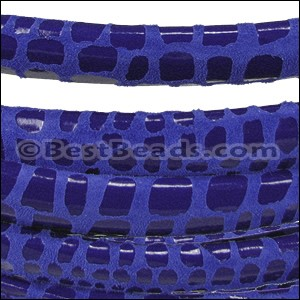 MINI Regaliz® Leather Oval CANCUN ROYAL BLUE - per 1 meter